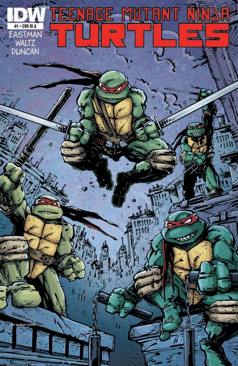 Teenage Mutant Ninja Turtles #1 the Kevin Eastman RI A ...