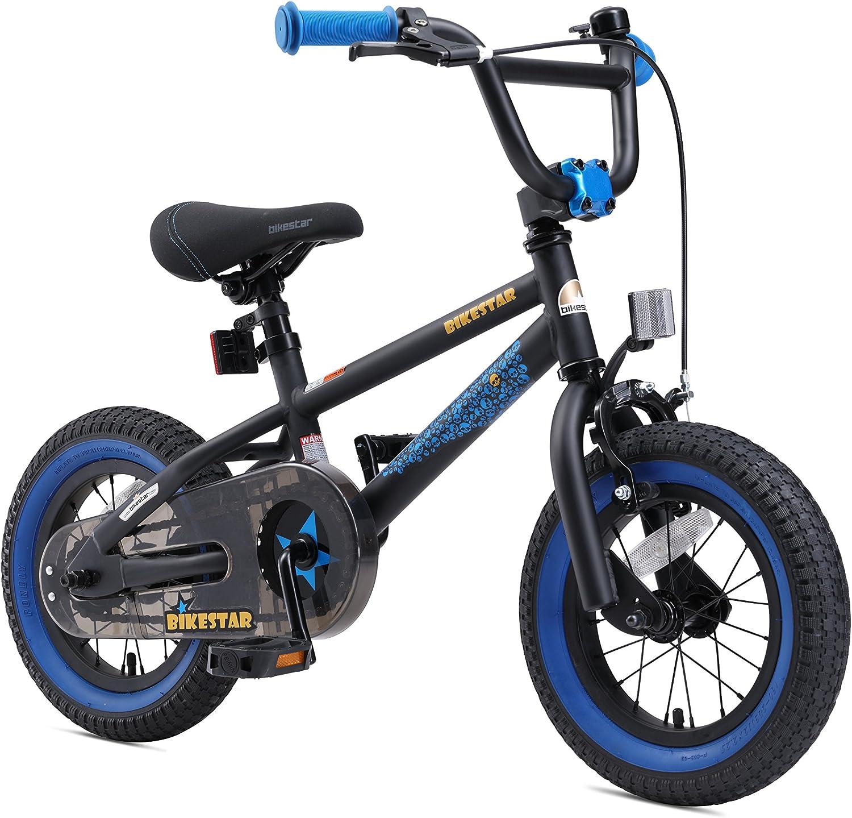 BIKESTAR Bicicleta Infantil para ni/ños y ni/ñas a Partir de 3 a/ños 12 Edici/ón BMX Bici 12 Pulgadas con Frenos