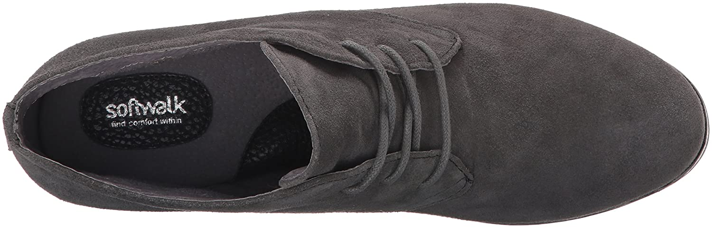 SoftWalk Women's Ramsey Boot B019QMKXKE 8.5 N US|Dark Grey Suede