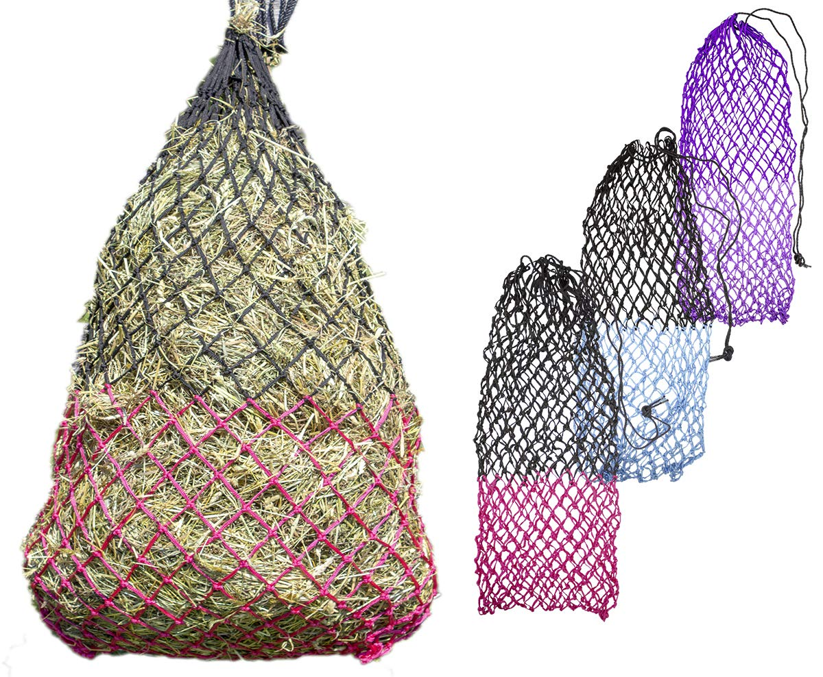 Derby Originals 56'' XL Cozi Net Slow Feed Soft Mesh Poly Rope Hanging Hay Net with 2x2'' Holes