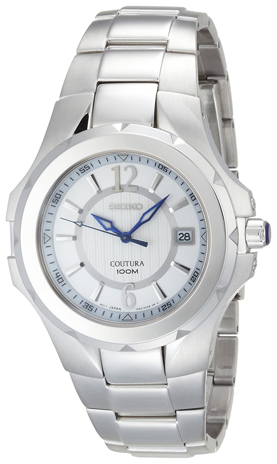 Seiko Men s SGEE65 Coutura Silver-Tone Silver And White Dial Watch