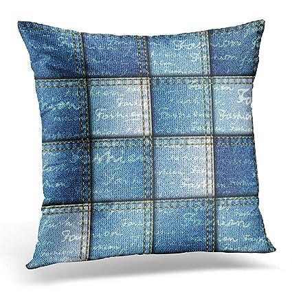 Amazon.com: Emvency Throw Pillow Covers Blue Continuity ...
