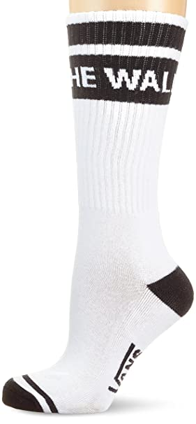 Vans_Apparel Summer Camp Crew Sock 7-10 1pk, Calcetines Casual para Mujer, Blanco (White-Black Yb2), Talla única: Amazon.es: Ropa y accesorios