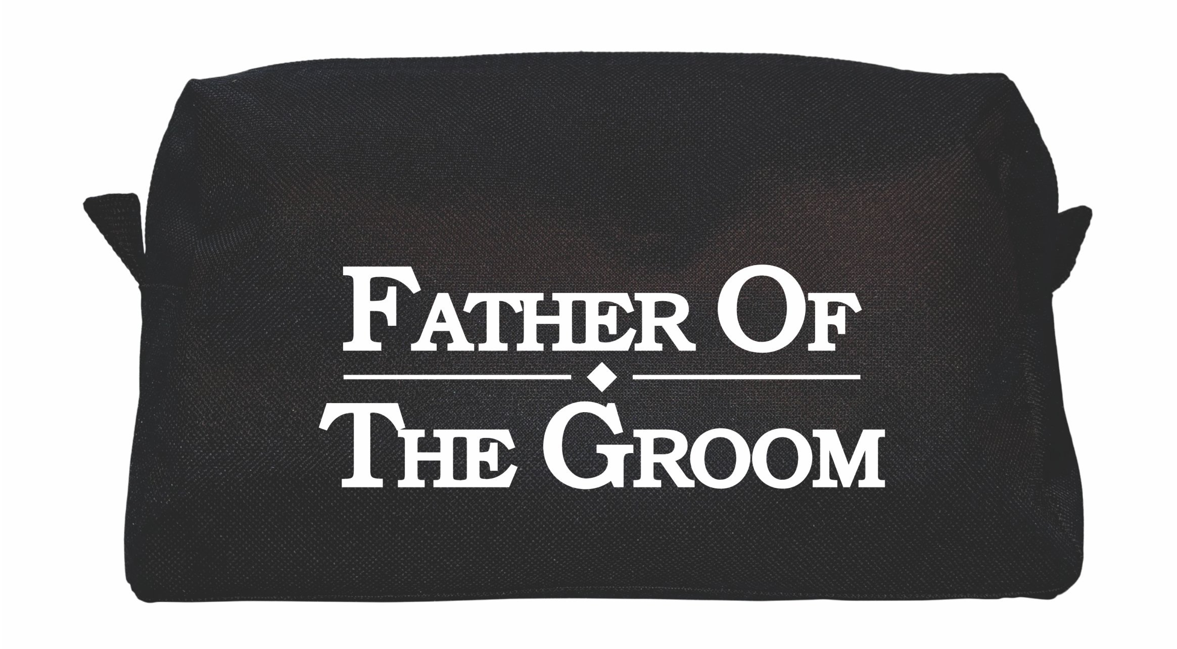TSO Mens Wedding Party Toiletry Bag - Black Dopp Bag and Travel Toiletry Bag for Holding All Your Needs (9.25'' x 5'' x 3.75'') (Father of the Groom)