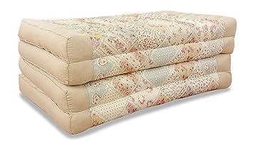 Colchón plegable con relleno 100 % natural, cama de día, colchón plegable para invitados, cama de invitado, almohadón, relajación.: Amazon.es: Hogar