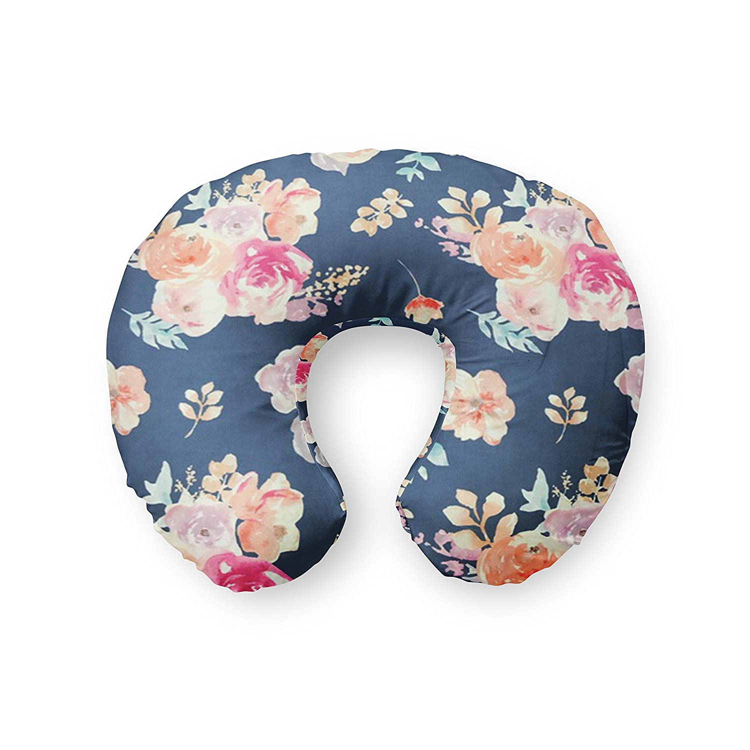 Nursing Pillow Cover in Navy Floral - by Twig + Bird - handmade in the USA Twig+Bird FHTBOP