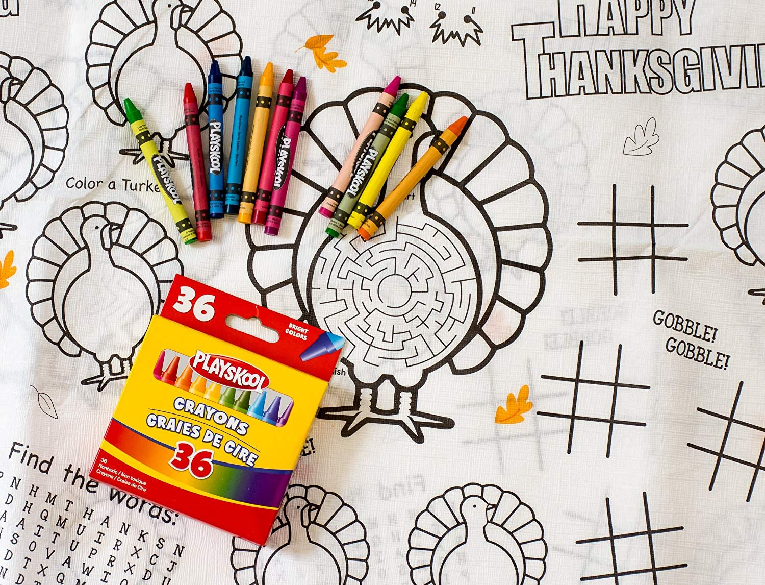 Image result for thanksgiving coloring tablecloth