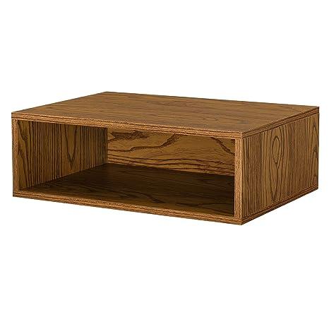 [en.casa]® Armario de diseño combinado - sistema de estantería de pared - 45x15x30 cm - nogal
