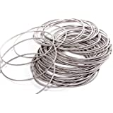 0.6mm thick HOUSWEETY 200 Loops Memory Beading Wire 40mm-45mm Dia