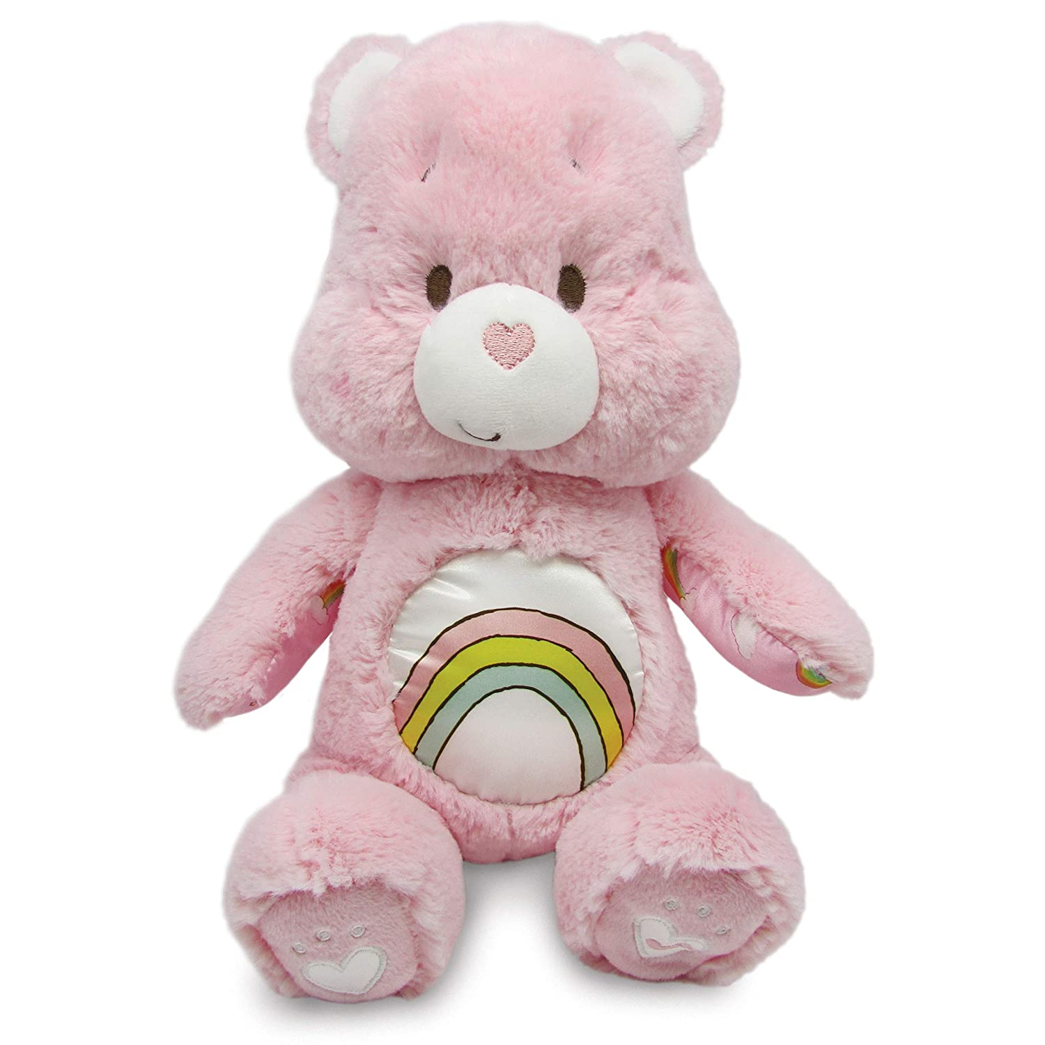 Message Recorder Stuffed Animals, Amazon Com Care Bears Soother Bear Stuffed Animal Plush With Music Lights Cheer Bear Pink Baby
