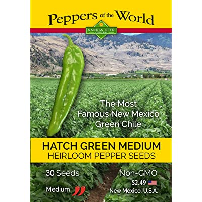 Hatch Green Medium Chile Seeds - 30 Seeds from New Mexico - Non-GMO : Plant Seed And Flower Products : Garden & Outdoor