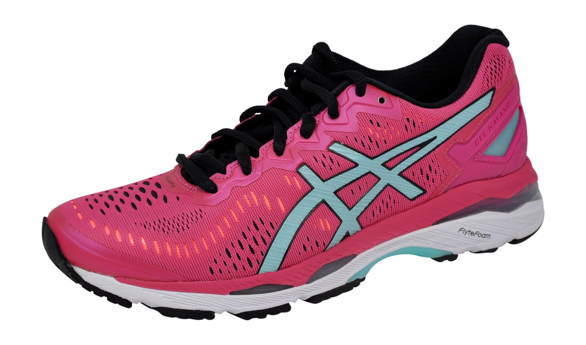 ASICS Womens Gel-Kayano 23 Running Shoe, Pink/Blue/Coral, 9 B(M) US