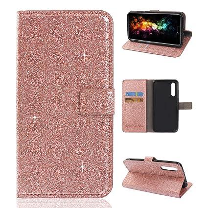 super popolare 1b2cb 2b2df Cover Huawei P20 Pro Glitter, Asnlove Bling Glitter Flip ...