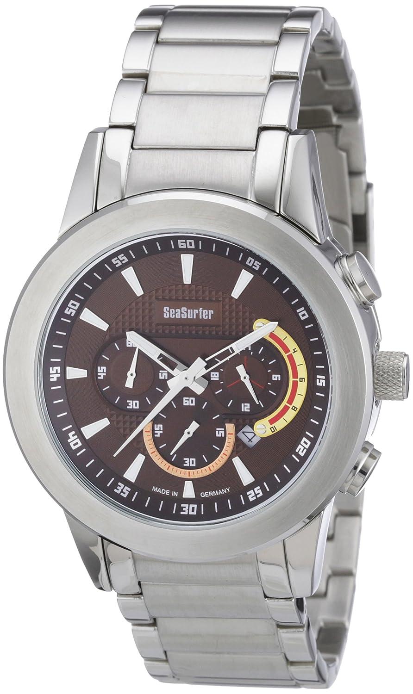 Sea Surfer 1581,4093 - Reloj analógico de Cuarzo para Hombre, Correa de Acero Inoxidable Chapado