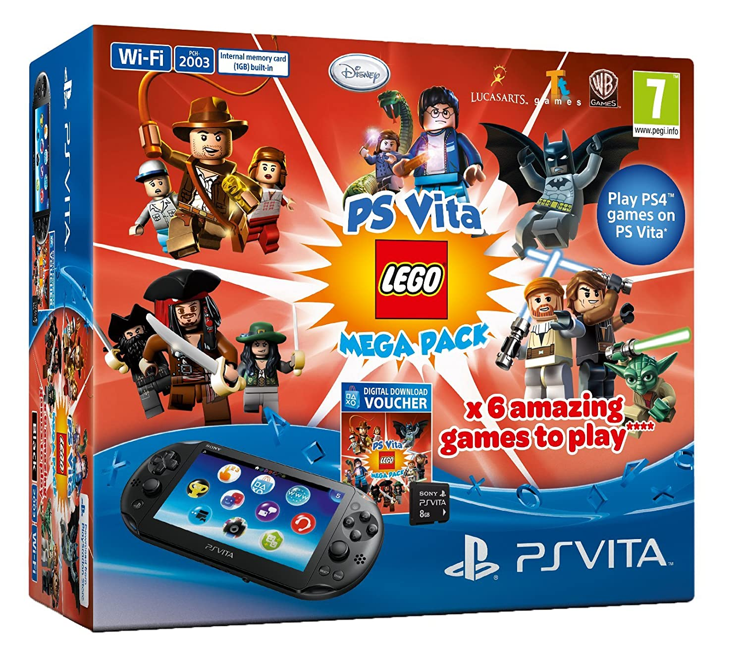 Amazon.com: Sony PS Vita Slim Console Lego Mega Pack Bundle ...