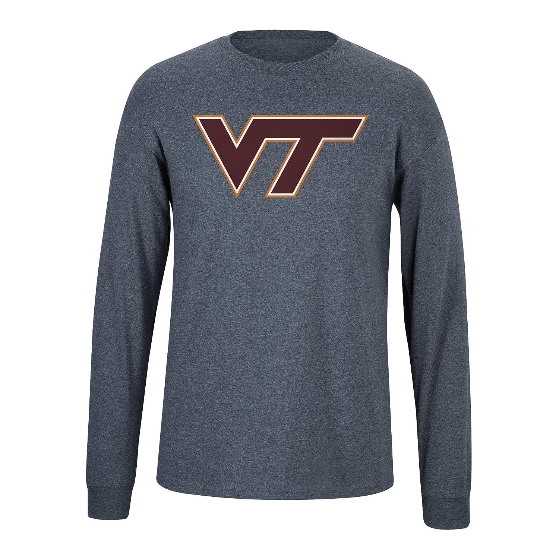 XX Large Dark Heather Elite Fan Virginia Tech Hokies Mens Long Sleeve Icon Tee