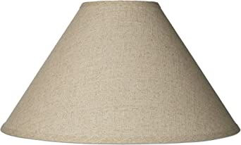 Burlap Empire Lamp Shade Rustic Fabric With Harp 6x19x12 Spider Brentwood Lampshades