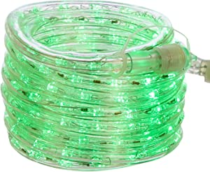 AmazonBasics 210 LED Indoor Outdoor Color Changing Rope Light with Control Button, 20-Foot