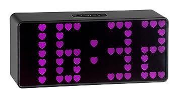TFA 98.1083.12 - Reloj digital con adaptador de red, números con diseño de