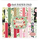 Carta Bella Paper Company Botanical Garden 6x6 Pad paper, pink, green, black, red, cream