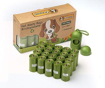 Yommy 360 Bolsas Biodegradables para Excrementos Perfumado 24 ...