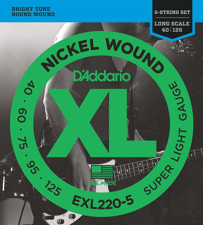 Light 45-100 Short Scale DAddario EXL170S Nickel Wound Bass Guitar Strings