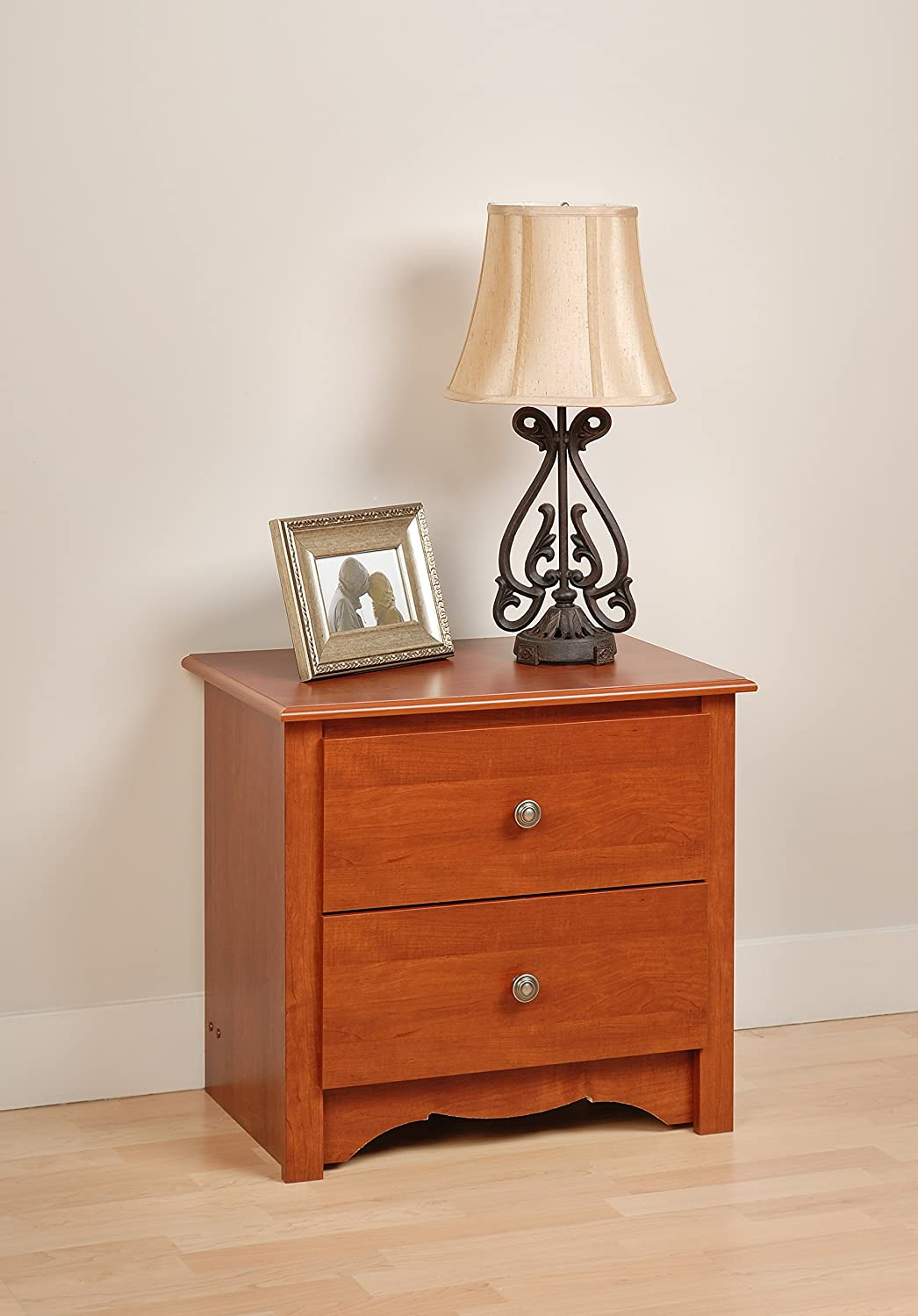 Prepac Black Sonoma 2 Drawer Nightstand BDC-2422