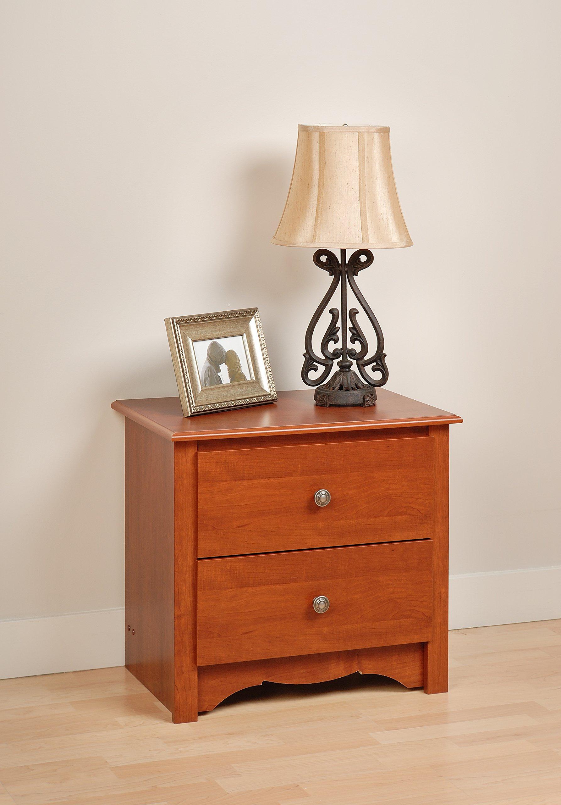 Prepac Cherry Monterey 2 Drawer Nightstand