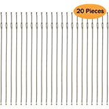 20 pcs Stainless Steel Keychain Cable Keyring Wire Key Ring Twist Barrel (20 pcs)
