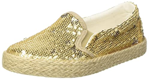 North Star 3298257, Espadrillas Basse Bambina, Oro, 31 EU