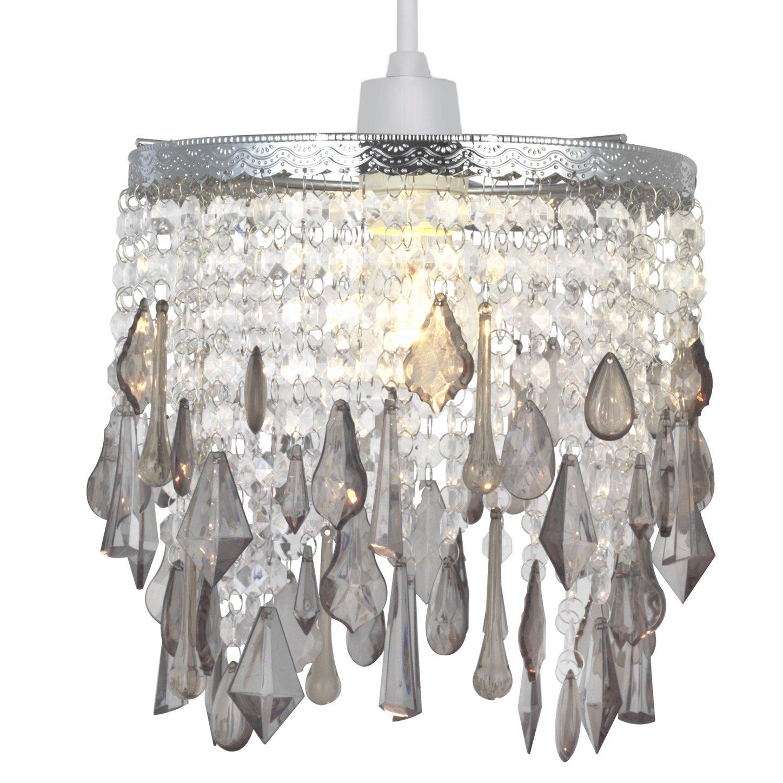 Crystal Pendant Light Shade, Modern Chandelier Design Ceiling Pendant Light Shade with Clear Acrylic Crystal-Clear FURUI