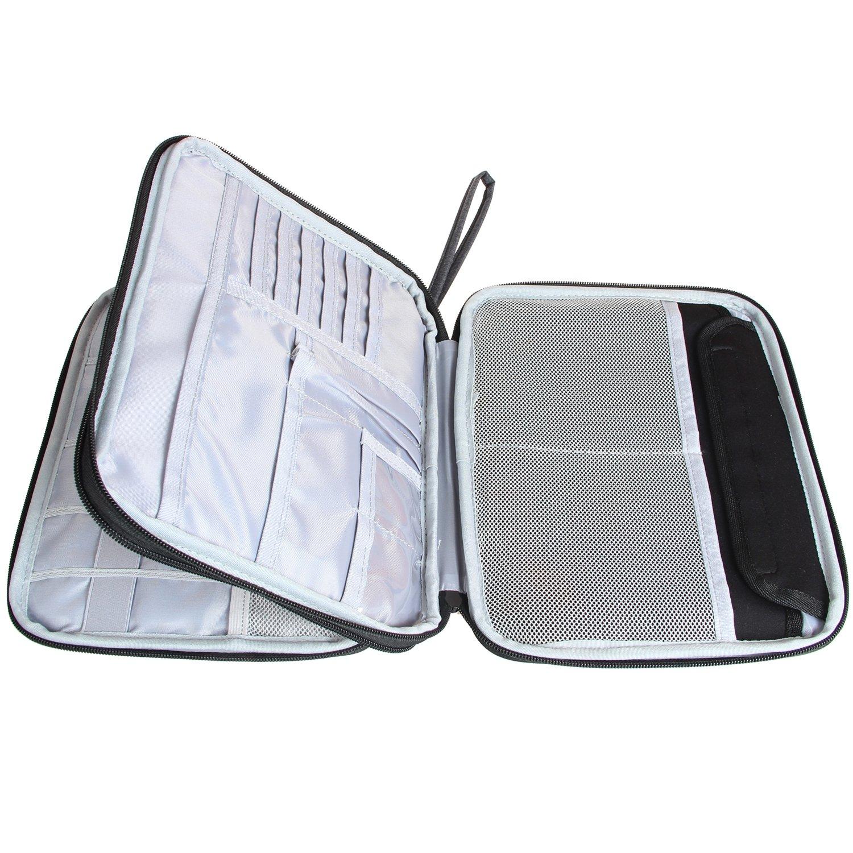 amazon com damero double layer electronics organizer travel