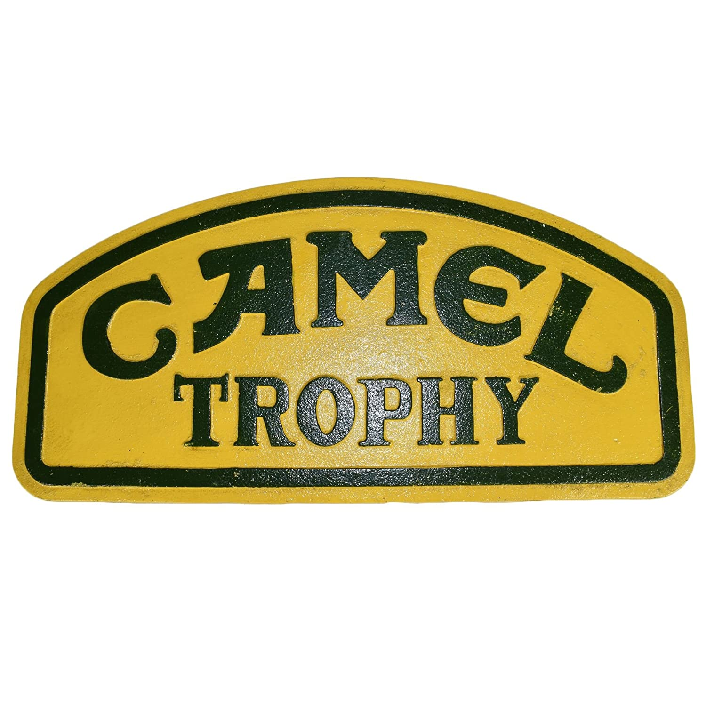 Camel Trophy Car Cast Iron Sign Plaque Wall Garage Petrol Workshop Challenge