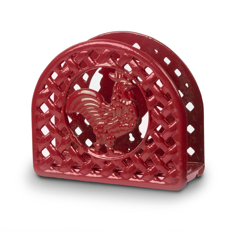 anchor hocking rooster napkin holder red napkin