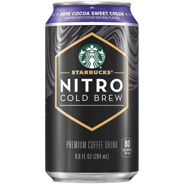 Starbucks - RTD Coffee Nitro Cold Brew, Dark Cocoa Sweet Cream, 9.6 fl oz Cans (8 Pack)