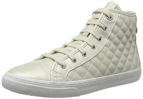 Geox D NEW Club A Scarpe da Ginnastica Alte Donna Bianco Whitec1000 40 EU