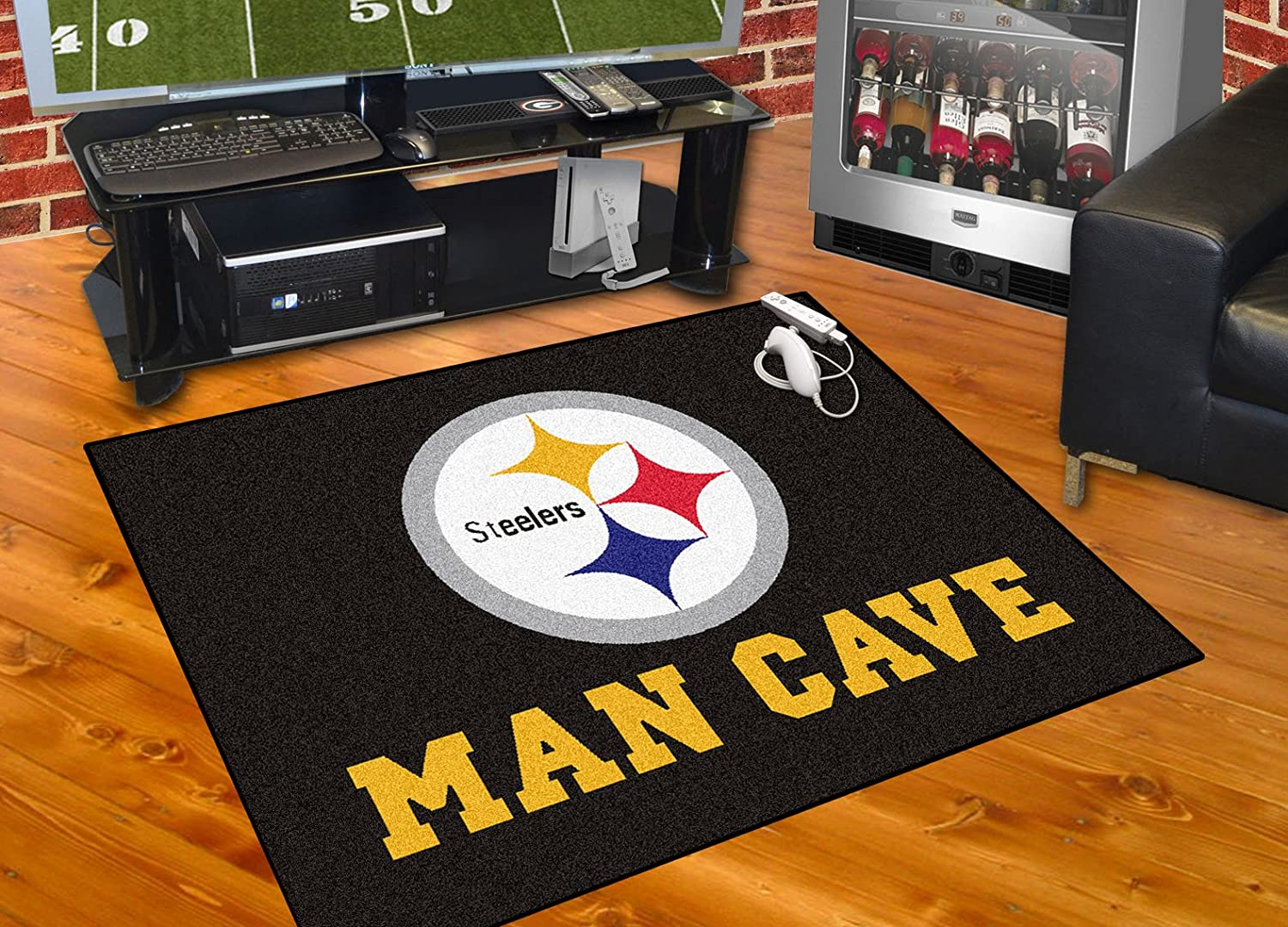Amazon FANMATS 14356 NFL Pittsburgh Steelers Nylon Universal Man Cave All Star Mat Automotive