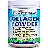 BioOptimal Collagen Powder - Collagen Peptides, Grass Fed, for Skin, Hair, Nails & Joints, Collagen Supplements for Women & M