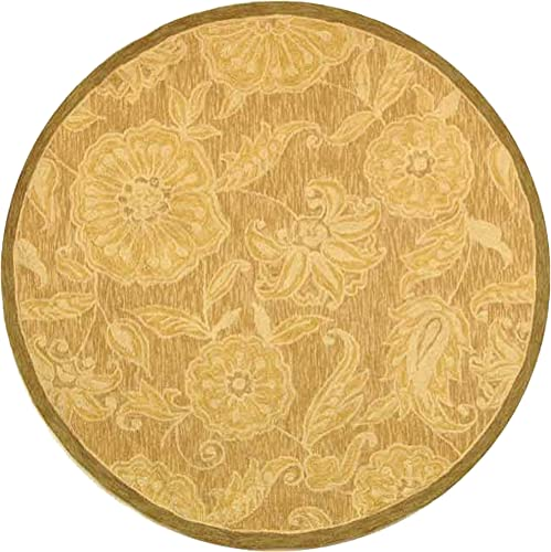 Safavieh Chelsea Collection HK156A Hand-Hooked Light Brown Premium Wool Oval Area Rug 7 6 x 9 6 Oval