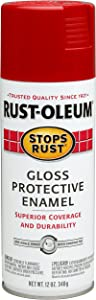 Rust-Oleum 7763830 Stops Rust Spray Paint, 12-Ounce, Gloss Carnival Red