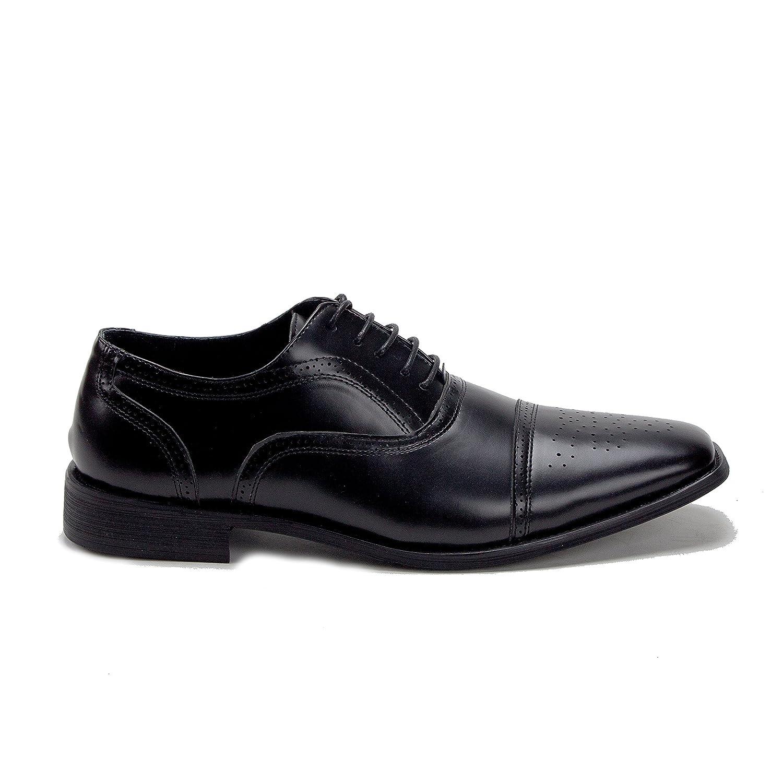 Jaime Aldo Mens Perforated Cap Toe Lace Up Oxfords Dress Shoes