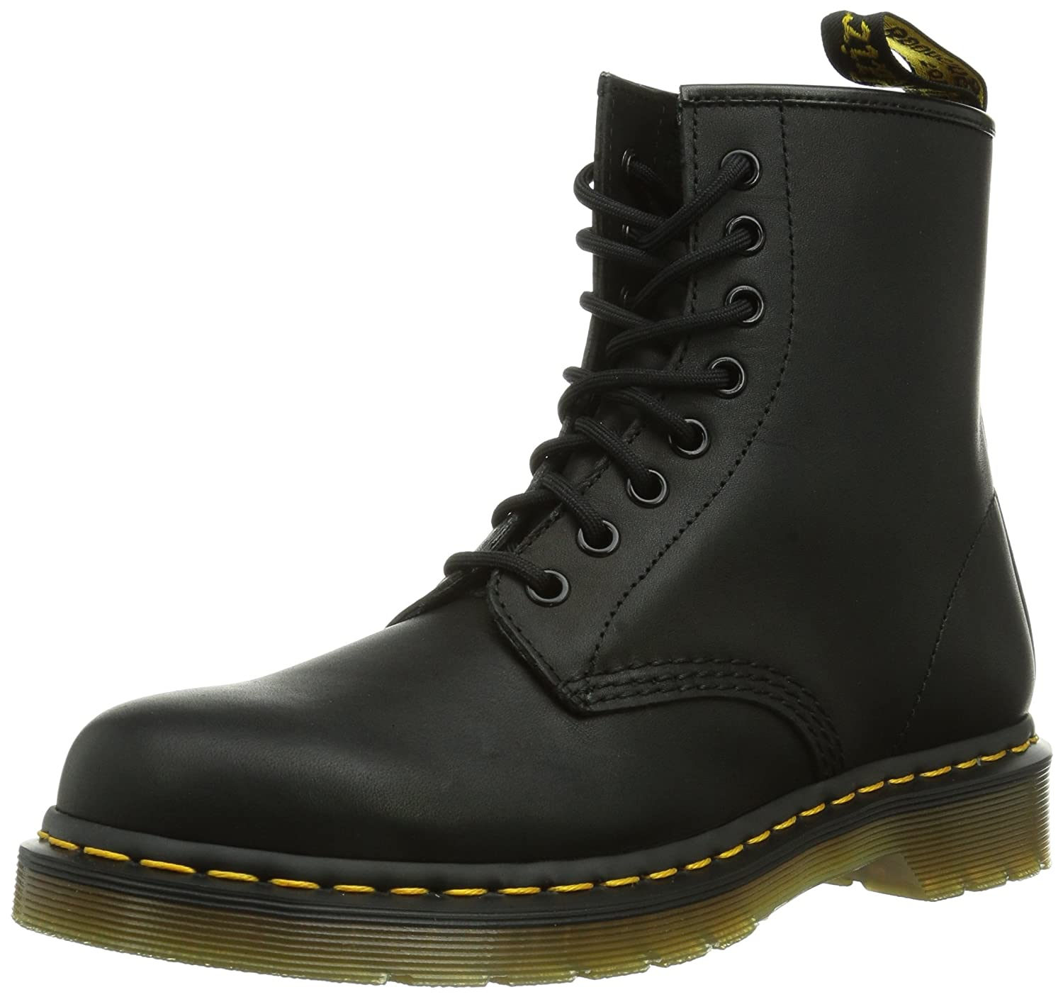 Dr. Martens Men's 1460 Combat Boot, 8.5 B(M) US Women/7.5 D(M) US Men B00BN4OOUE 6.5 Medium UK (US Men's 8.5, Women's 9 US)|Black Greasy