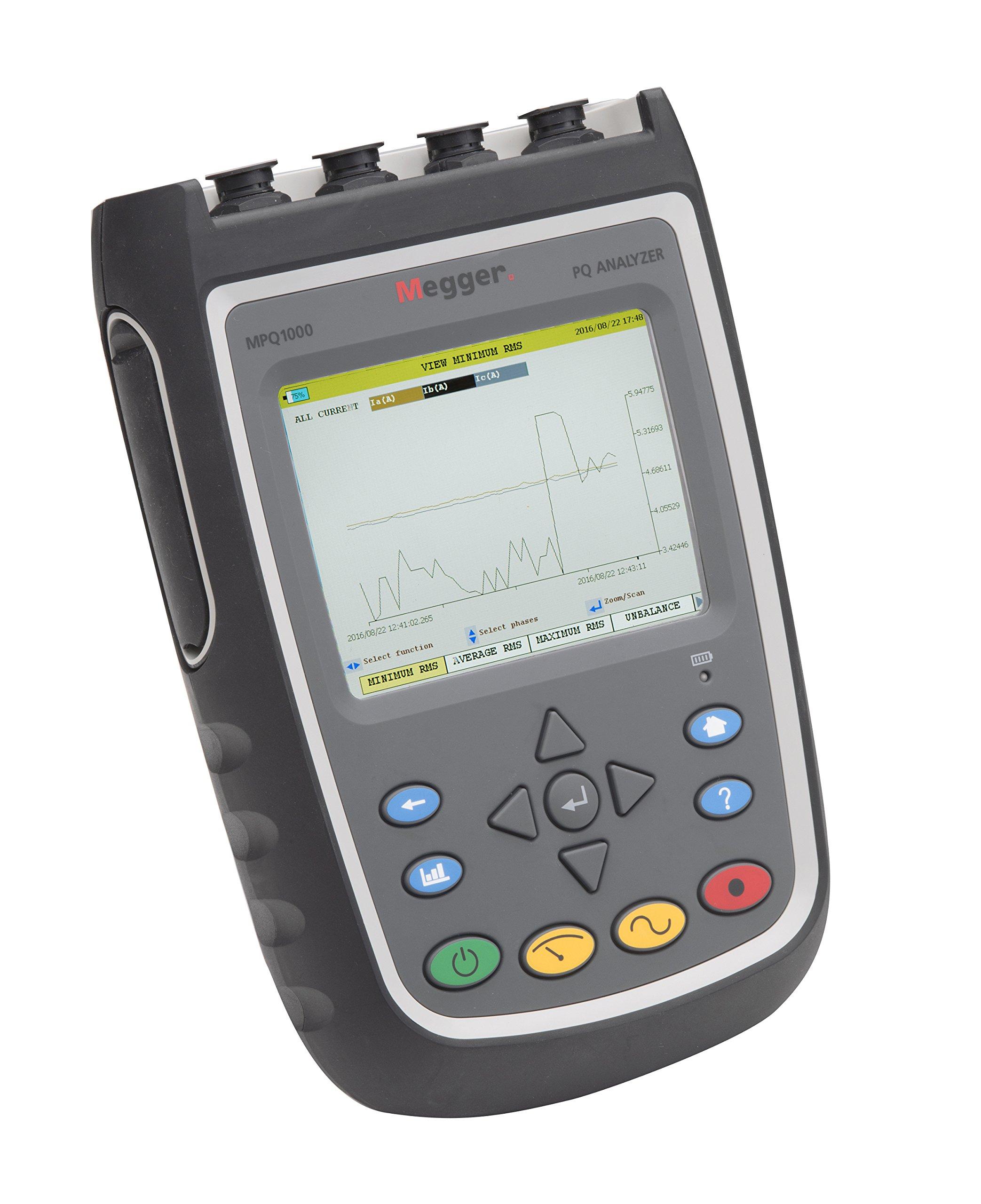 Megger MPQ1000 Power Quality Analyzer, 6.89'' Width, 9.85'' Length