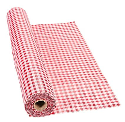 100 X 40 Red Gingham Tablecloth Roll   Party Tableware U0026 Table Covers