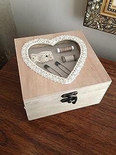 Caja Costurero. Ideal para decoración. Tapa simula máquina de ...