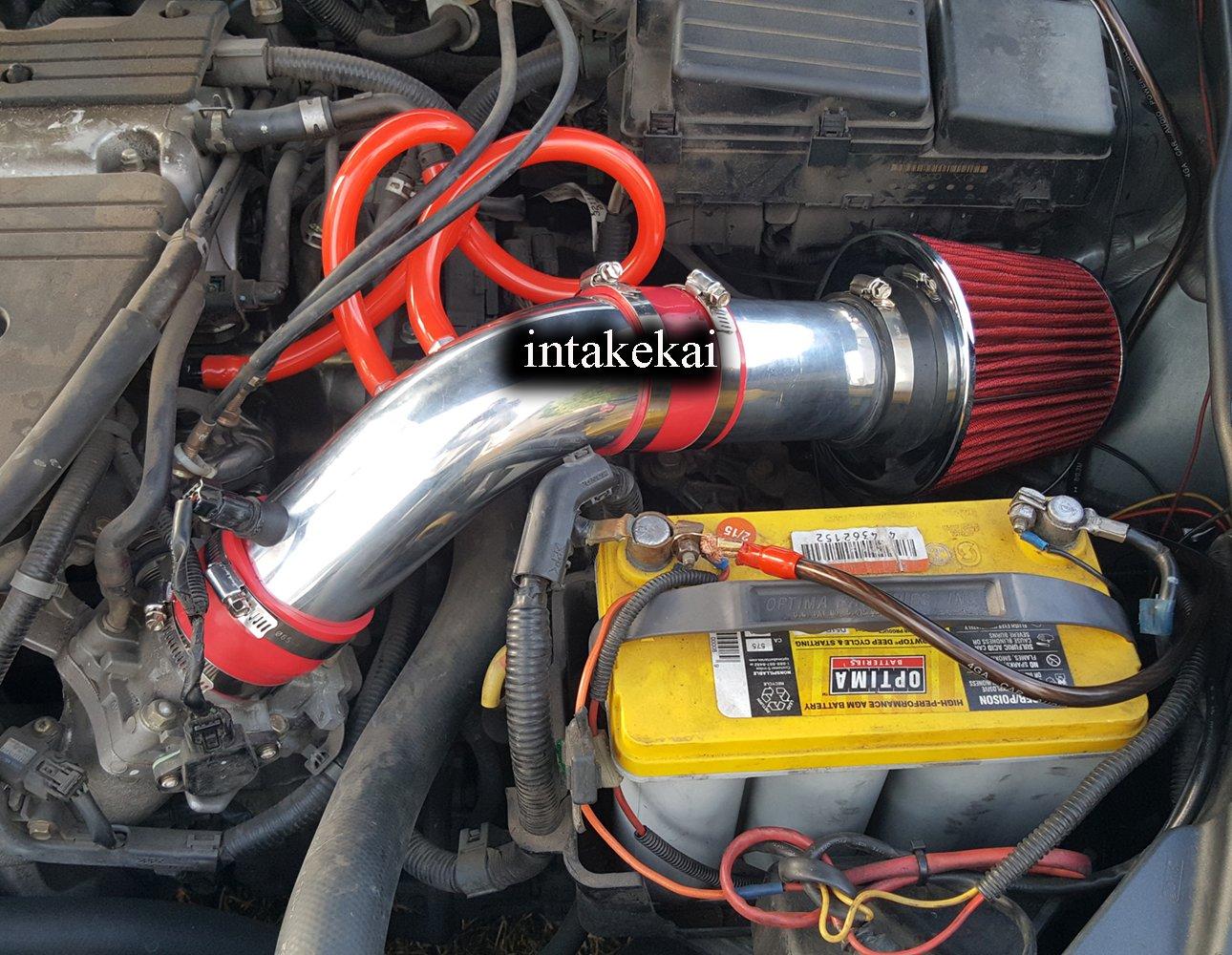 Performance Air Intake for 2004 2005 2006 2007 2008 ACURA TSX 2.4 l4 BASE ENGINE (RED) INTAKE KAI