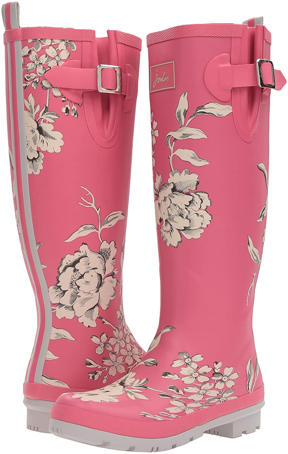 Joules Boot Women's Welly Print Rain Boot Joules B015PIFMG8 10 B(M) US|True Pink Floral 5c1e2f