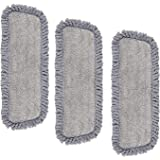MEXERRIS Microfiber Spray Mop Pads Replacement Head for Wet Dry Dust Mop, Reusable Washable Mop Heads Refills Compatible with