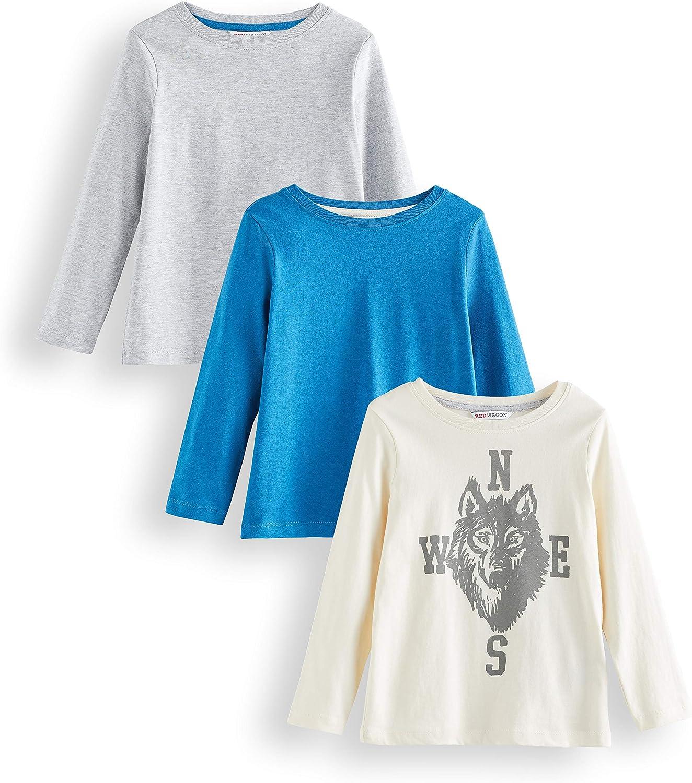 Lot de 3 Shirt /À Manches Longues Gar/çon Marque RED WAGON T