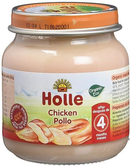 Holle Potito de Pollo (+4 meses) - Paquete de 6 x 125 gr